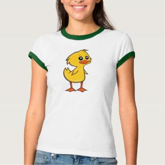 Camiseta T-shirt bonito da campainha das mulheres do pato