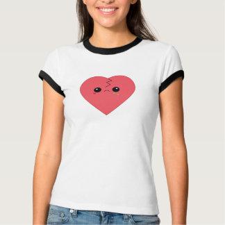 Camiseta T-shirt bonito da campainha do coração quebrado de