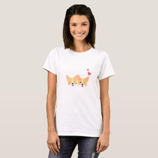 Camiseta T-shirt bonito da mulher do cão do Corgi