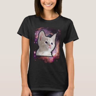 Camiseta T-shirt bonito da nebulosa do amante do gato do