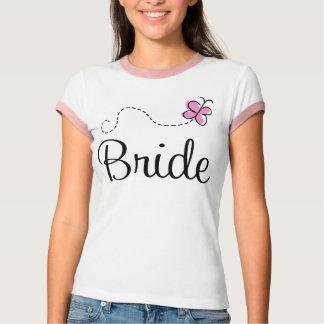 Camiseta T-shirt bonito da noiva do dia do casamento
