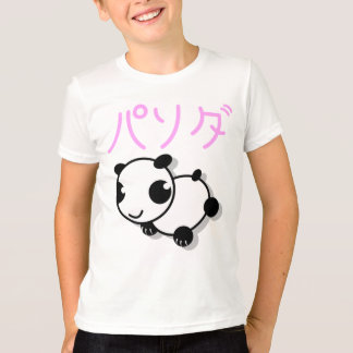 Camiseta t-shirt bonito da panda do estilo do anime - rosa