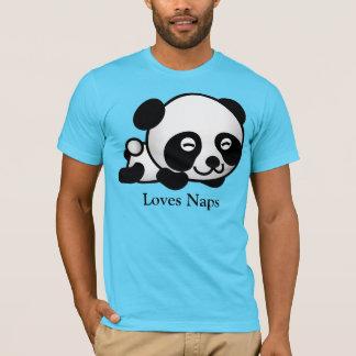 Camiseta T-shirt bonito da panda do sono das sestas dos