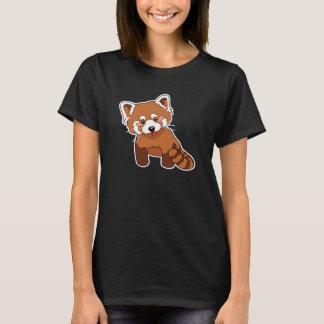 Camiseta T-shirt bonito da panda vermelha