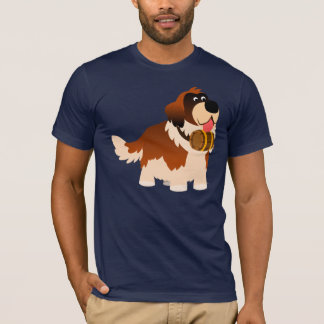 Camiseta T-shirt bonito de St Bernard dos desenhos animados