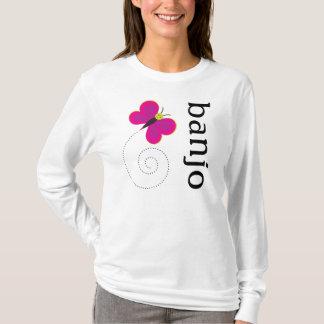 Camiseta T-shirt bonito do amante do banjo