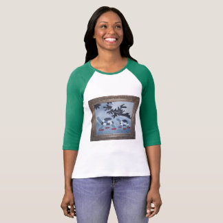 Camiseta T-shirt bonito do basebol com as tartarugas