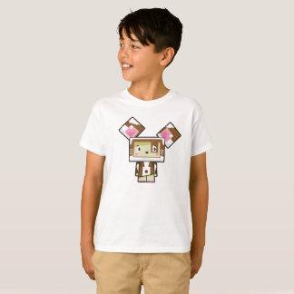 Camiseta T-shirt bonito do cão de Blockimals dos desenhos