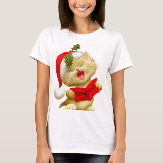 Camiseta T-shirt bonito do Caroler do Natal do canto do
