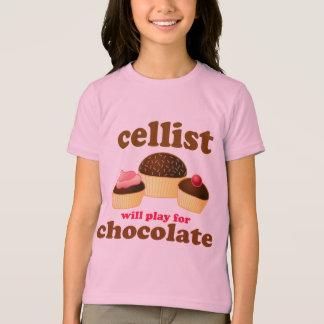 Camiseta T-shirt bonito do chocolate do violoncelo