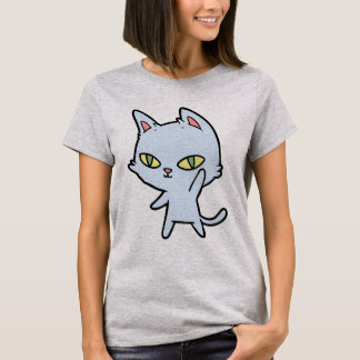 Camiseta T-shirt bonito do gato dos desenhos animados