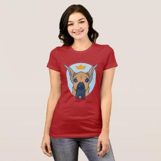 Camiseta T-shirt bonito do gráfico de great dane