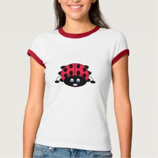 Camiseta T-shirt bonito do joaninha