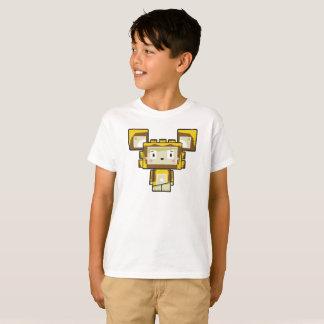 Camiseta T-shirt bonito do leão de Blockimals dos desenhos