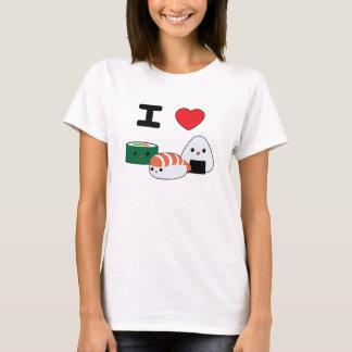 Camiseta T-shirt bonito do sushi do amor de I