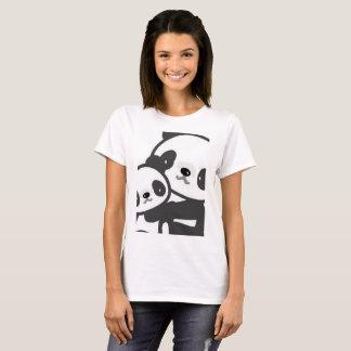 Camiseta T-shirt bonito do verão da panda