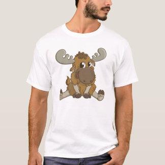 Camiseta T-shirt bonito dos alces dos desenhos animados