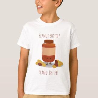 Camiseta T-shirt bonito dos miúdos do frasco   da manteiga
