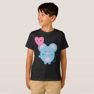 Camiseta T-shirt bonito dos miúdos do sorriso cor-de-rosa
