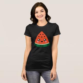 Camiseta T-shirt bonito super da melancia do Kawaii das