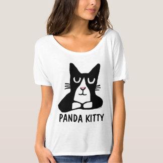 Camiseta T-shirt bonitos do gato do GATINHO da PANDA, gato
