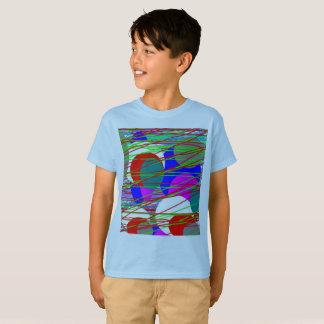Camiseta T-shirt borbulhante do Hanes TAGLESS® dos miúdos