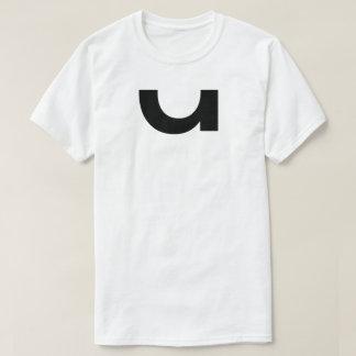 Camiseta T-shirt branco com impressão escuro