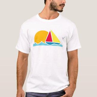 Camiseta T-shirt branco da cena do veleiro, S M L XL 1X 2X