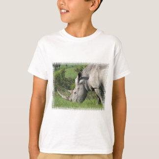 Camiseta T-shirt branco da juventude do rinoceronte