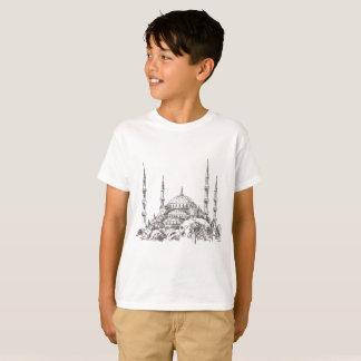 Camiseta T-shirt branco da mesquita de Ahmet da sultão para