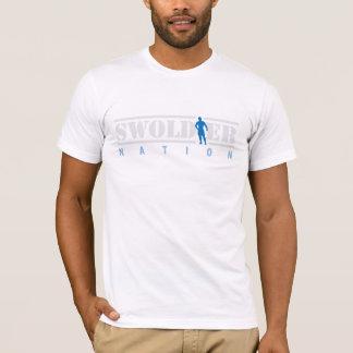 Camiseta T-shirt branco da nação de Swoldier