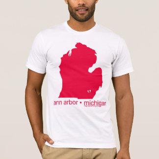 Camiseta T-shirt branco de marcagem com ferro quente de