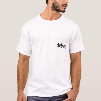 Camiseta t-shirt branco debian do ninja