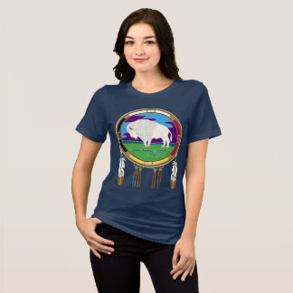 Camiseta T-shirt branco do búfalo