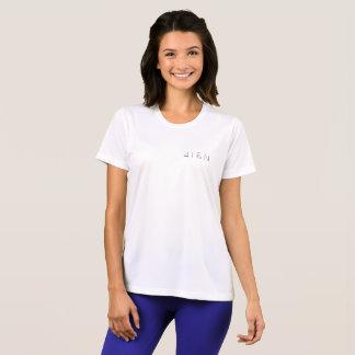 Camiseta t-shirt branco do Esporte-Tek das mulheres 4TEN