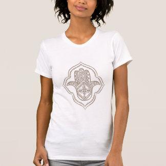 Camiseta t-shirt branco do hamsa (taupe)