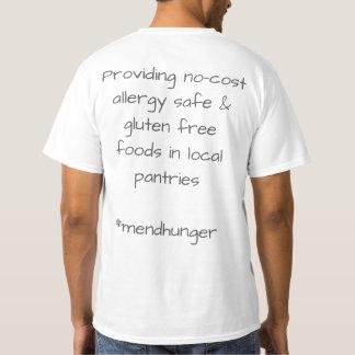 Camiseta T-shirt branco do pescoço de grupo dos homens