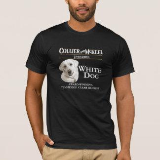Camiseta T-shirt branco do preto do cão do mineiro e do