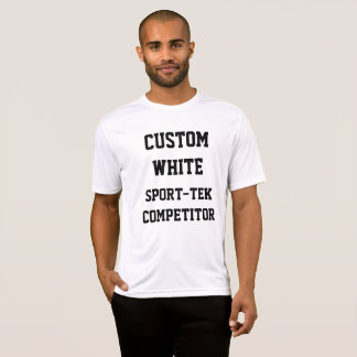 Camiseta T-SHIRT BRANCO do SPORT-TEK dos homens