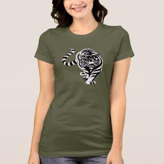 Camiseta T-shirt branco do tigre