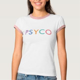 Camiseta T-shirt branco e cor-de-rosa de PSYCO