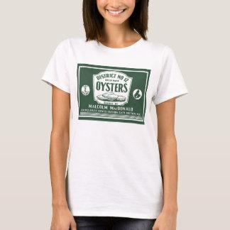 Camiseta T-shirt bretão da etiqueta das ostras do cabo