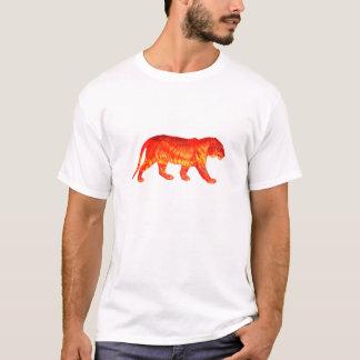Camiseta T-shirt brilhante ardente