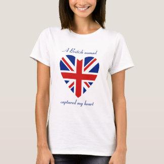 Camiseta T-shirt BRITÂNICO do querido da bandeira