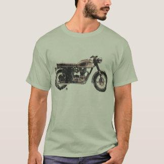 Camiseta T-shirt britânico legal e simples da motocicleta