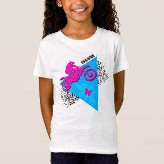 Camiseta T-shirt cabido da boneca da menina de MotoGirl
