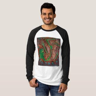 Camiseta T-shirt caído da pintura do abstrato do ~ de