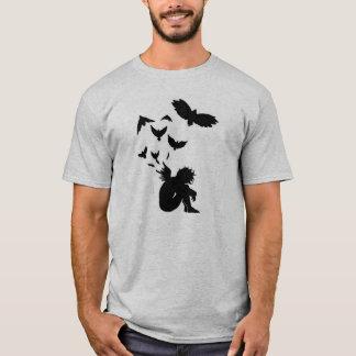 Camiseta T-shirt caído do cinza do anjo