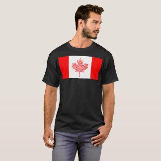 Camiseta T-shirt canadense da nação da bandeira