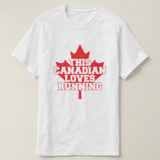 Camiseta T-shirt canadense do corredor